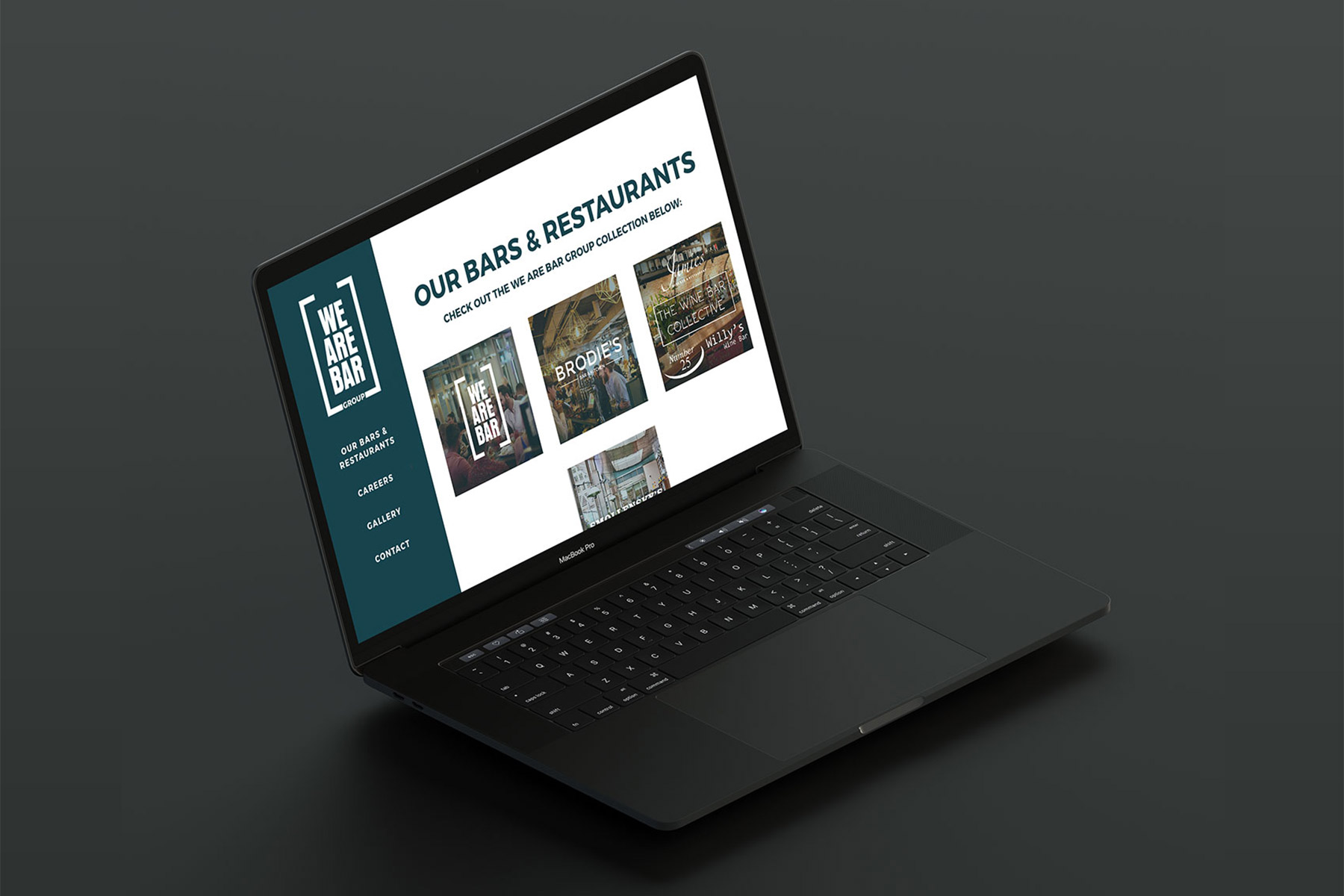 we are bar group | web design - wab macbook - We Are Bar Group | Web Design